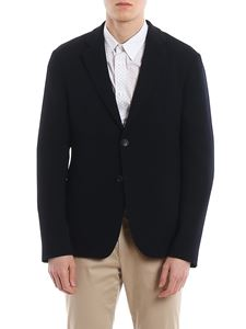 Giorgio Armani - Crinkle effect single-breasted blazer
