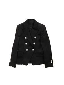 Balmain - Embossed buttons blazer in black