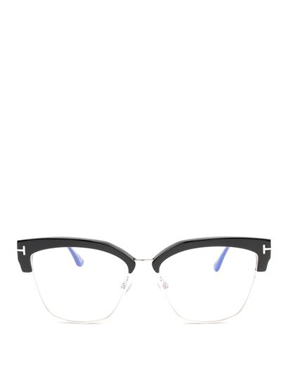 Tom Ford - Black metal and acetate eyeglasses