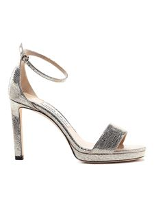 Jimmy Choo - Misty 100 sandals in Light Gold color