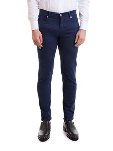 Versace Collection - Greca patch jeans in blue