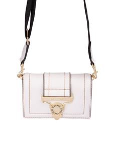Versace Jeans Couture - Belted leather cross body bag in light pink