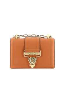 Versace Jeans Couture - Chain leather bag in light brown