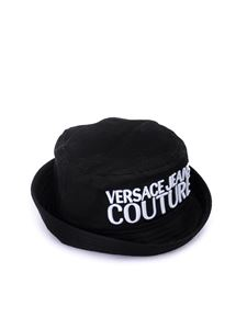 Versace Jeans Couture - Logo embroidery bucket hat in dark blue