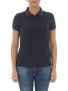 Emporio Armani - Contrasting piping blue polo shirt