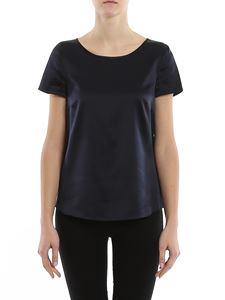 Emporio Armani - Navy silk satin blouse