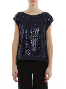 Emporio Armani - Sequined optical check blouse