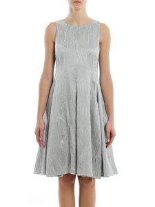 Emporio Armani - Jacquard sleeveless dress in Grigio Cielo color