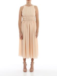 Emporio Armani - Silk crêpe long dress in powder pink