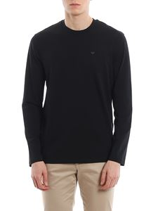 Emporio Armani - Long-sleeved T-shirt in blue