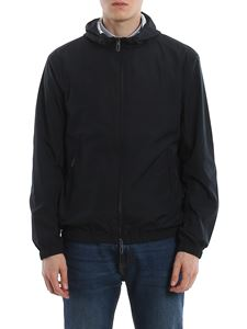 Emporio Armani - Jacket in Navy Blue with hood