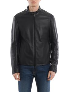 Emporio Armani - Nappa jacket in dark blue