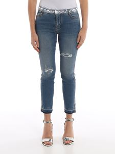 Ermanno Scervino - Jeans with embroidered inserts