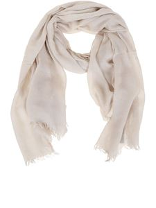 Rick Owens - Tecuatl New Lera Mega scarf in ivory color