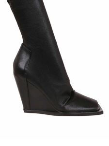 Rick Owens - Open toe ankle boots in black