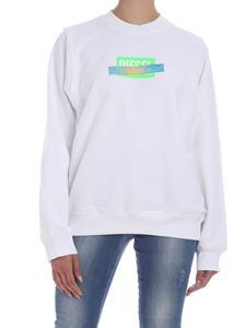 Diesel - Ang S1 sweatshirt in white and green