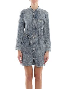 Stella McCartney - Denim short jumpsuit in blue