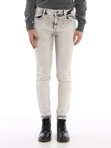 Stella McCartney - Hand-dyed skinny jeans in white and blue