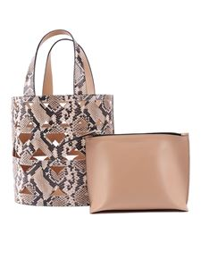 Casadei - Python print cut out bucket bag
