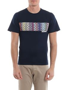 Missoni - Chevron print T-shirt in blue