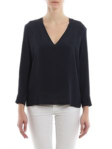 Dondup - Crepe blouse in blue