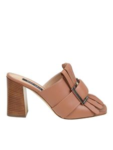 Sergio Rossi - Fringed sandals in brown