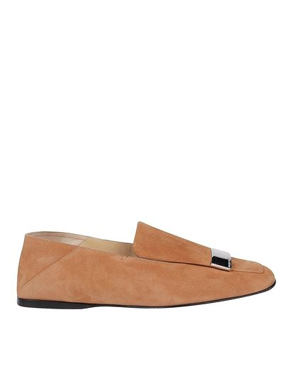 Sergio Rossi Spring Summer 2020 Sr1 Suede Loafers In Brown A77990 Mcaz01 2222