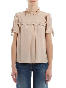 Dondup - Cady crepe top in pink