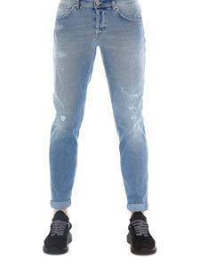 Dondup - Scrapings detailed jeans in light blue