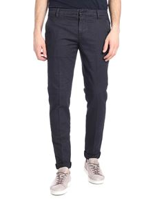 Dondup - Gaubert micro patterned pants in dark blue