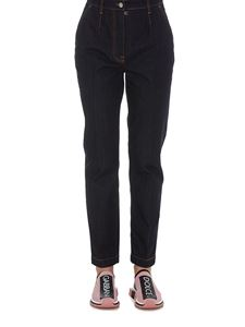 Dolce & Gabbana - Embossed logo patch jeans in black