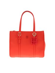 Tommy Hilfiger - Borsa a spalla Th Chic Small corallo fluo