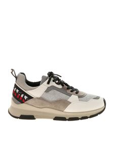 Tommy Hilfiger - Lamè sneakers in white and grey