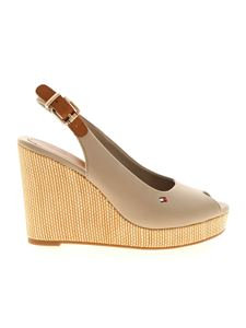 Tommy Hilfiger - Elena wedges in mud color