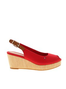 Tommy Hilfiger - Elba wedges in red