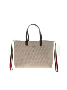 Tommy Hilfiger - Icons tote bag in beige and white