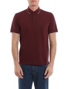 Z Zegna - Piqué polo in burgundy