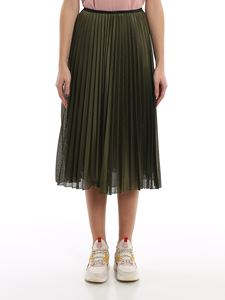 Moncler - Pleated skirt in green