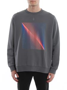 Marcelo Burlon County Of Milan - Optical Sweatshirt in Anthracite Blue