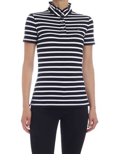 Tommy Hilfiger - Maya polo shirt in blue and white