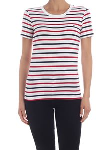 Tommy Hilfiger - Striped T-shirt in white blue and red