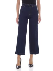 Tommy Hilfiger - Contrasting stitching crop jeans in blue