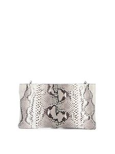 Orciani - Diamond leather clutch in rock color