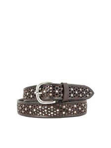 Orciani - Bull Soft studded belt in dark brown color