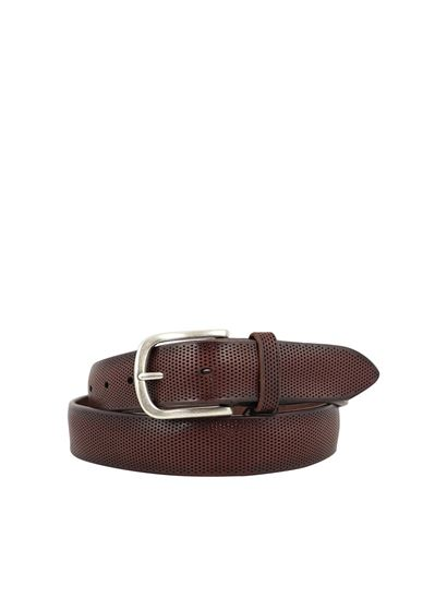 Orciani - Bull Soft drilled leather belt in Bruciato color