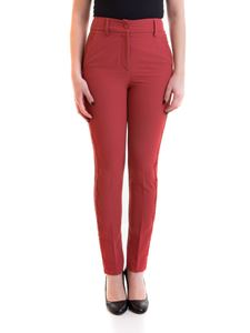 Blumarine - Lace detailed pants in red