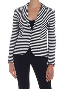 Tommy Hilfiger - Striped Beehive jacket in white and blue