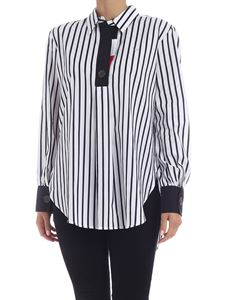 Tommy Icons - Striped oversized blouse in white and black