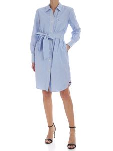 Tommy Hilfiger - Striped Lara dress in white and blue
