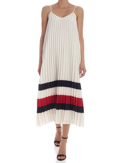 Tommy Icons - Pleated dress in ivory color
